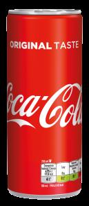Coca Cola 0.25 l PLECH