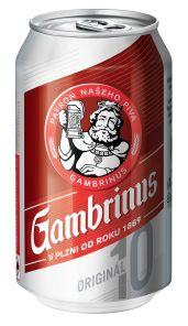 Gambrinus 10% 0.33 l PLECH